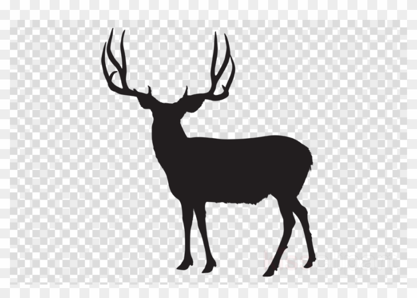 Deer clipart transparent background jpg free Download Mule Deer Silhouette Clipart White-tailed ... jpg free