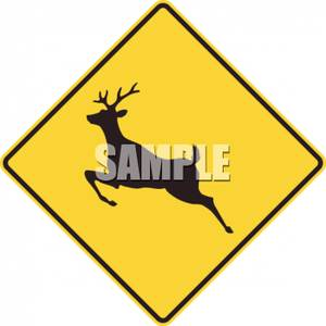 Deer crossing sign clipart picture free Deer Crossing Symbol Road Sign - Royalty Free Clipart Picture picture free