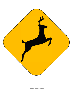 Deer crossing sign clipart clipart Deer Crossing Caution Sign Printable Sign, free to download and ... clipart