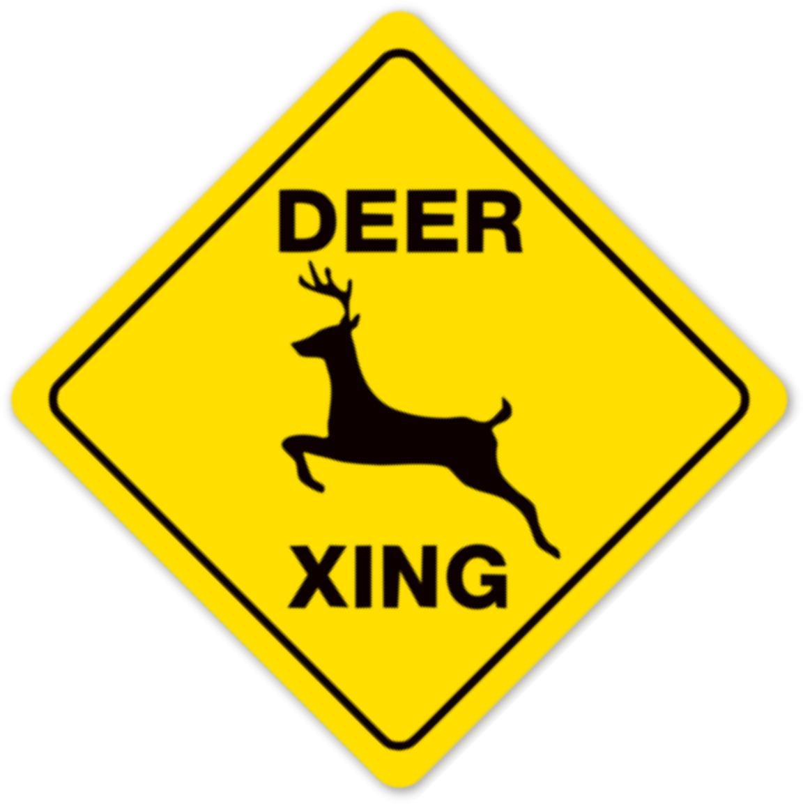 Deer crossing sign clipart svg black and white Ophelion Clipart - Full Size Clipart (#3149474) - PinClipart svg black and white