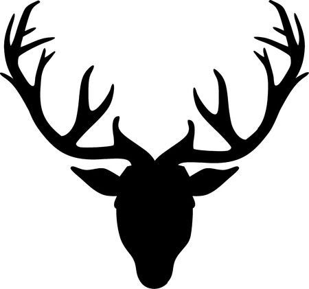 Deer head clipart black and white clip transparent download Deer head black and white clipart 2 » Clipart Portal clip transparent download