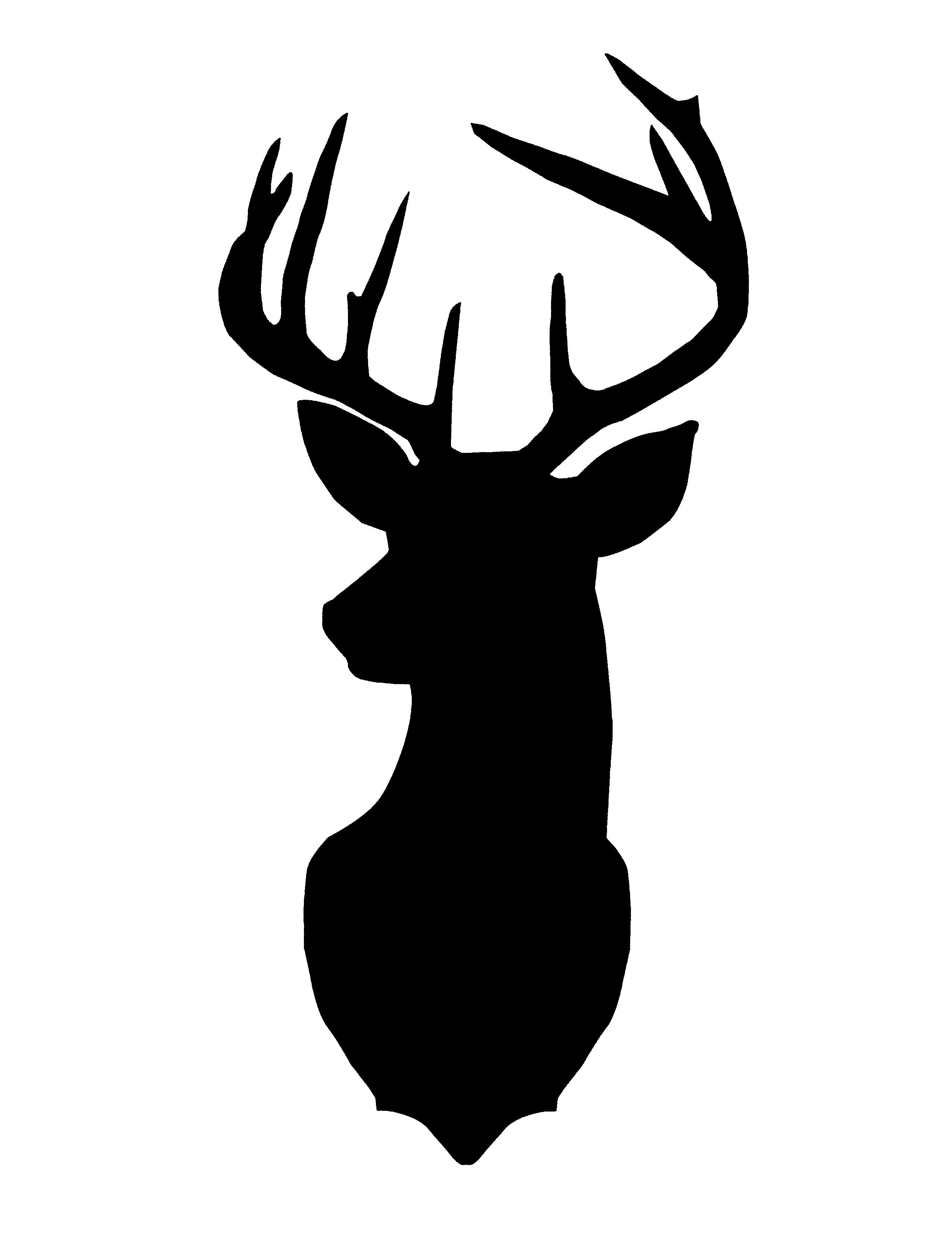 Deer head clipart black and white vector transparent library Deer Head Black And White | Free download best Deer Head Black And ... vector transparent library