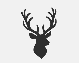 Reindeer head outline clipart image stock Deer Head Clipart Black And White | Free download best Deer Head ... image stock