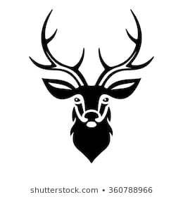 Deer head clipart black and white jpg freeuse download Deer head clipart black and white 1 » Clipart Portal jpg freeuse download