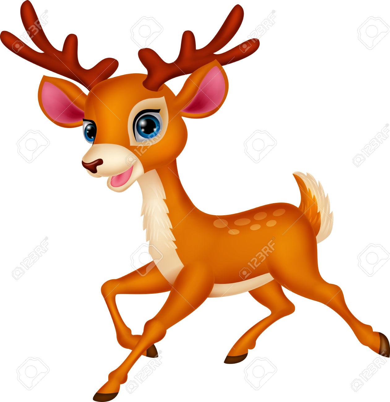Deer running clipart jpg black and white stock 6+ Clipart Deer | ClipartLook jpg black and white stock