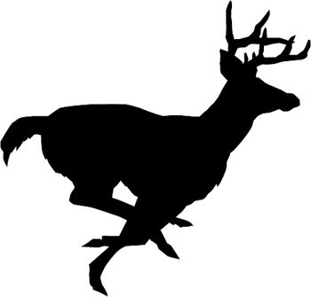 Deer running clipart clipart freeuse download Running deer silhouette Great Idea for a tatoo | Tatoos I like ... clipart freeuse download