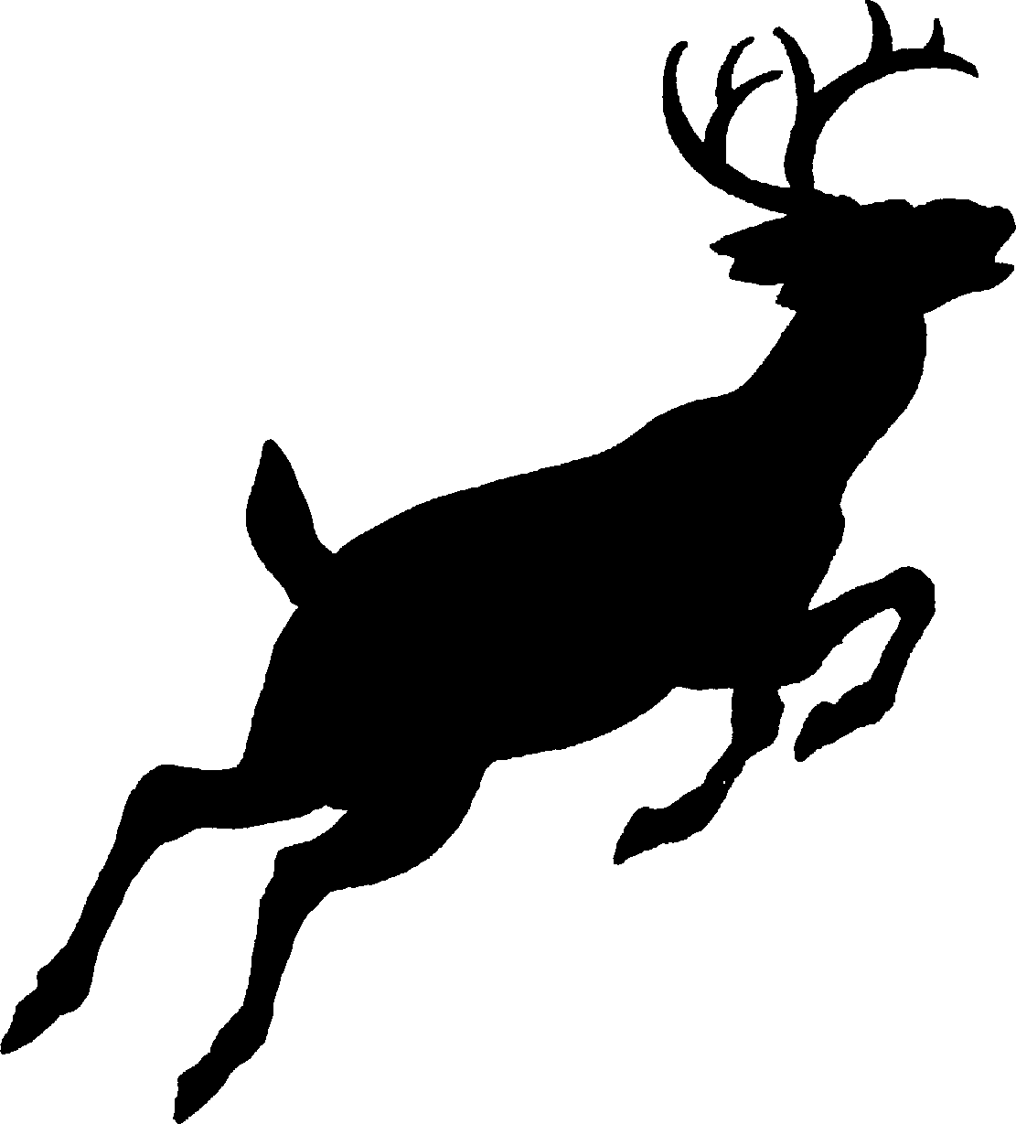 Deer running clipart image transparent White-tailed deer Silhouette Red deer Clip art - Free Deer Pictures ... image transparent