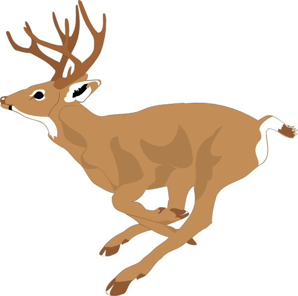 Deer running clipart picture free stock Running Deer Clip Art | Deer running fast clip art | art inspiration ... picture free stock