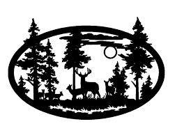 Deer scene clipart transparent deer scene silhouette clip art ...   Home Ideas   Silhouette clip ... transparent