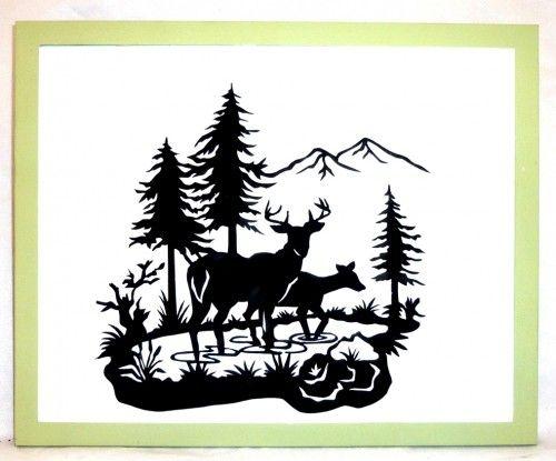 Deer scene clipart vector black and white Free Deer Scene Cliparts, Download Free Clip Art, Free Clip Art on ... vector black and white