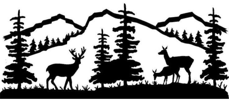 Deer scene clipart clip art royalty free Mountain Scene Deer Family - ms014   clip art and art   Pinterest ... clip art royalty free