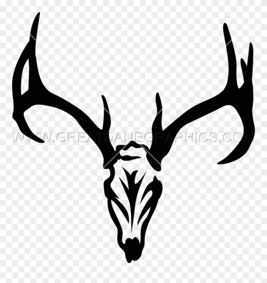 Deer skull clipart vector black and white download Deer Skull Svg Clipart Reindeer Clip Art - Deer Skull Head ... vector black and white download