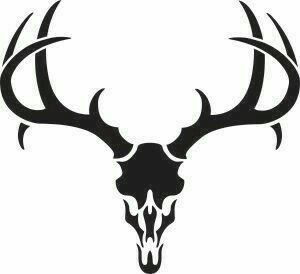 Deer skull clipart black and white vector banner free download Pin by Michelle Johnson on ~TATTOOS~ | Pinterest | Stencils, Deer ... banner free download