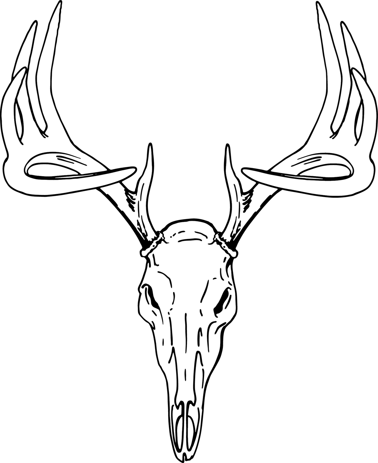 Deer skull clipart black and white vector clip library stock Deer head clip art free vector in open office drawing svg svg ... clip library stock