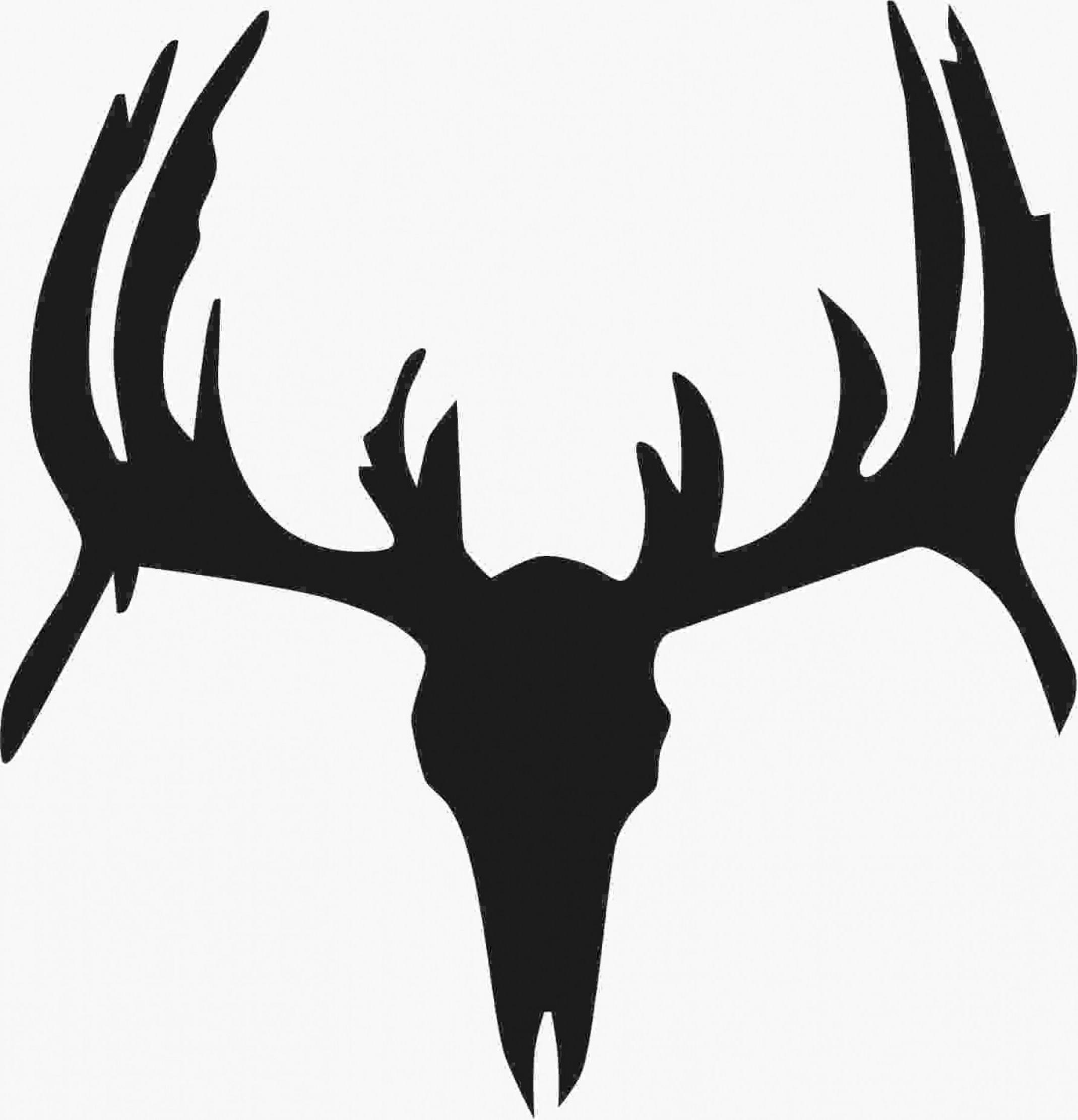 Deer skull clipart black and white vector picture Top Deer Skull Silhouette Design » Free Vector Art, Images, Graphics ... picture