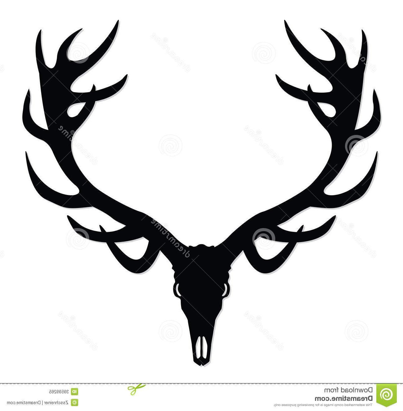 Deer skull clipart black and white vector jpg transparent HD Deer Skull Silhouette Clip Art Drawing » Free Vector Art, Images ... jpg transparent