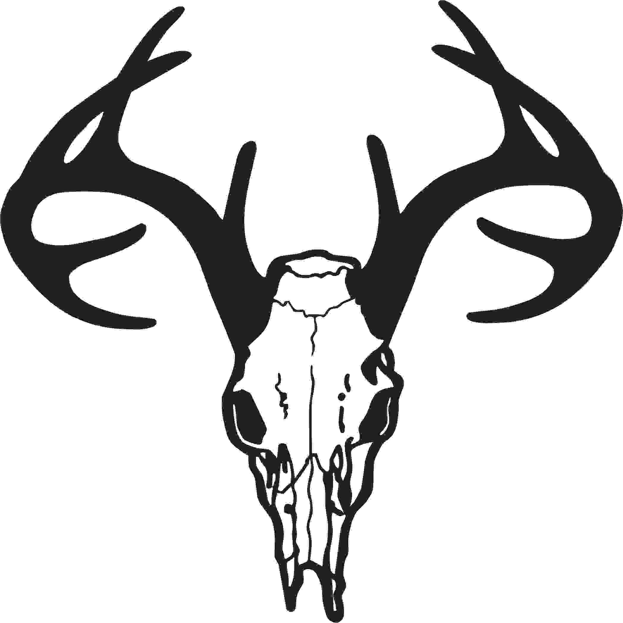 Deer skull clipart black and white vector clip art library Whitetail Deer Vector Download 119 Vectors - Clip Art Library clip art library