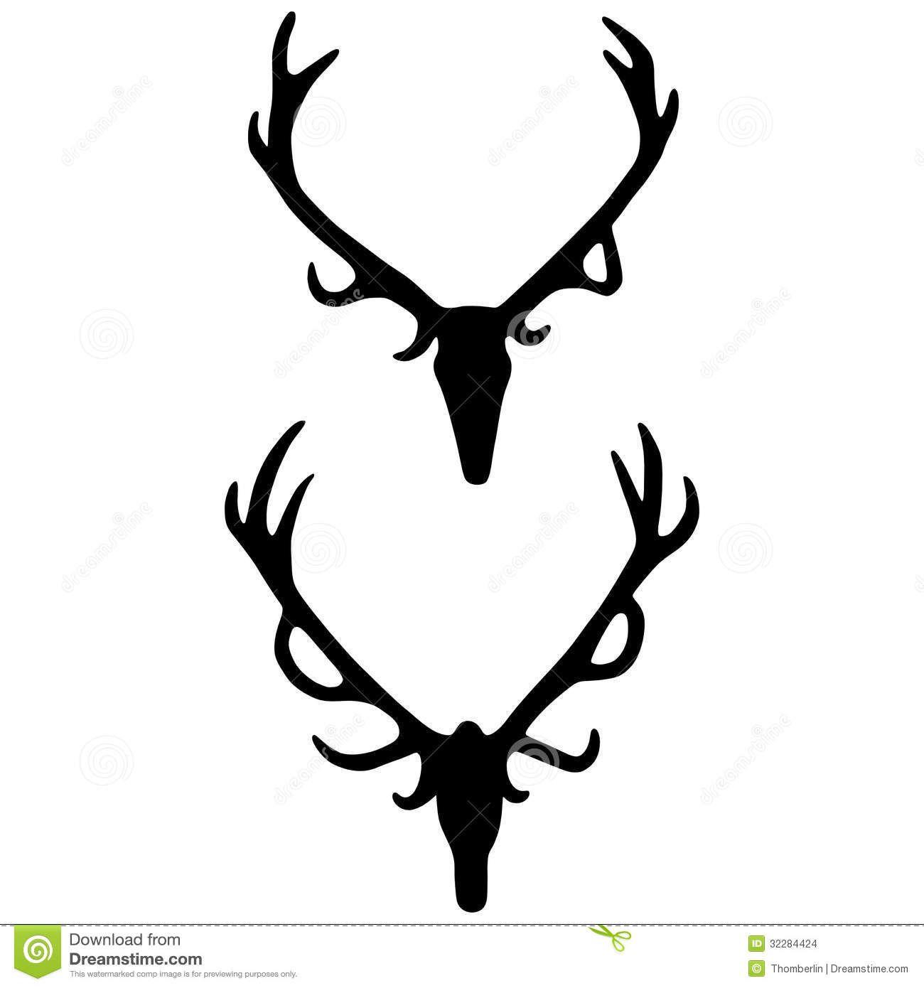 Deer skull clipart black and white vector picture download Antlers vector   deer drawings   Deer drawing, Elk skull, Skull ... picture download