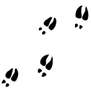 Deer tracks clipart royalty free library Deer Footprints Cliparts | Free download best Deer Footprints ... royalty free library