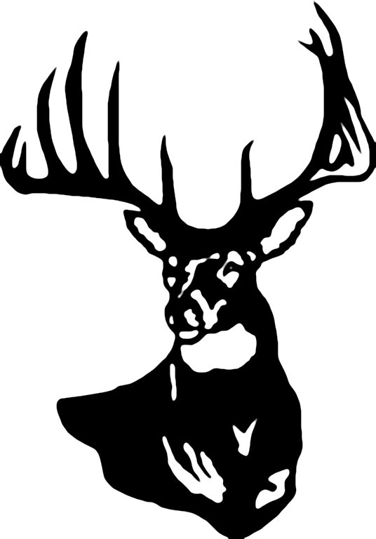 Reindeer head outline clipart vector transparent stock Black And White Deer Head | Free download best Black And White Deer ... vector transparent stock