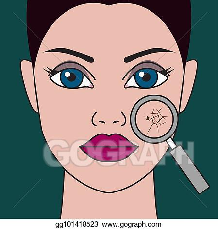 Dehydrated clipart jpg transparent stock Vector Illustration - Dry skin of face. EPS Clipart gg101418523 ... jpg transparent stock