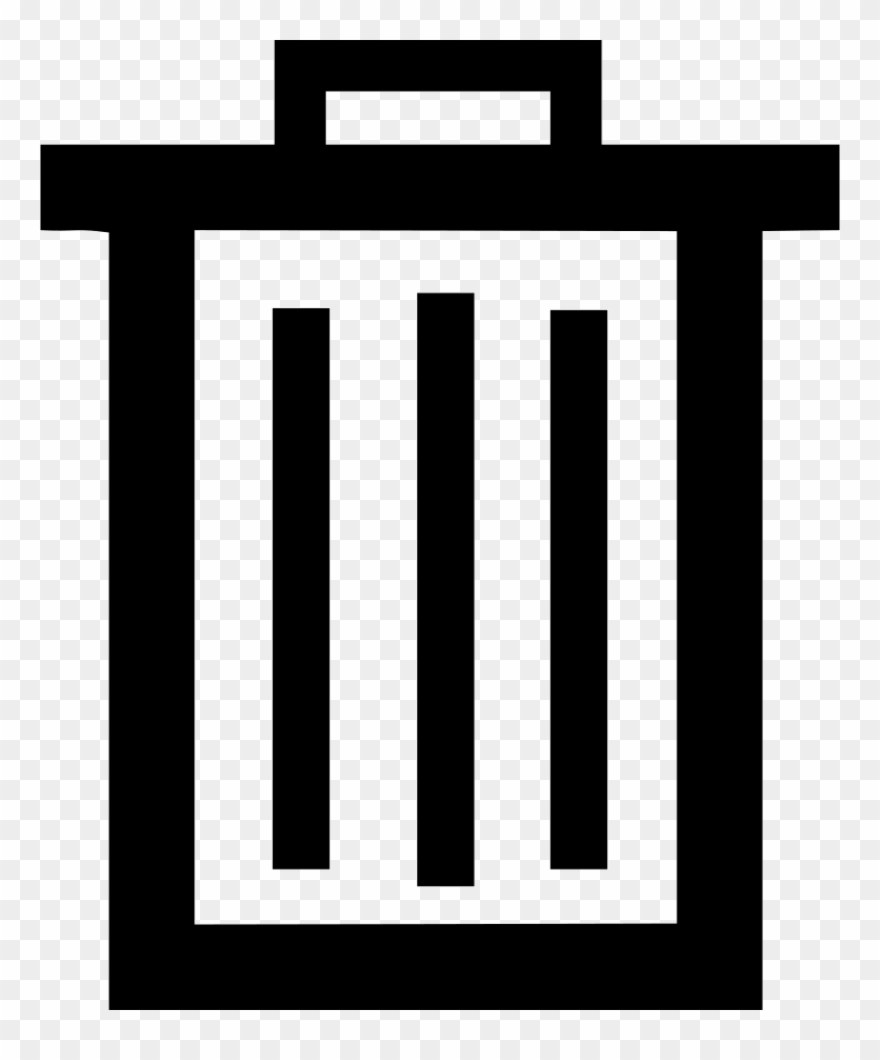 Delete clipart image royalty free library Bin Delete Garbage Recycle Remove Trash Comments - Delete Svg Icon ... royalty free library