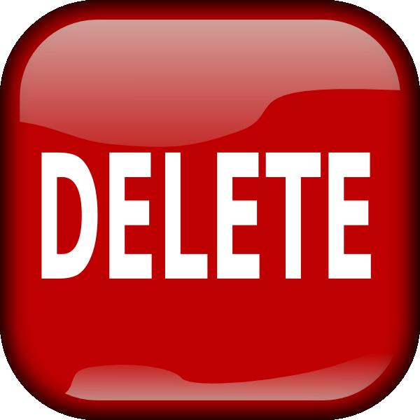 Delete clipart image picture library Red Delete Square Button Clip Art at Clker.com - vector clip art ... picture library