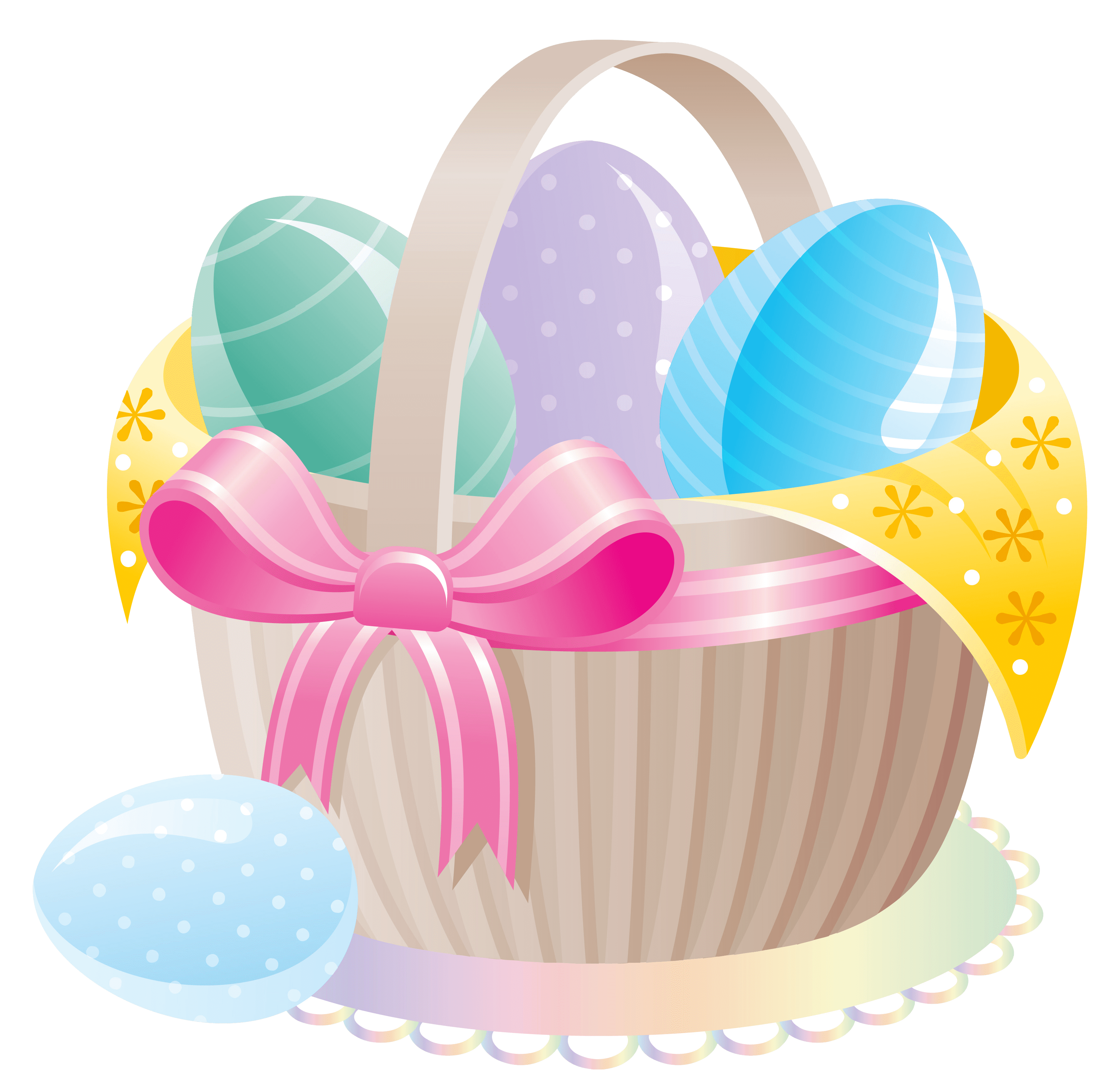 Delicate clipart svg royalty free stock Delicate Basket With Easter Eggs PNG Clipart svg royalty free stock
