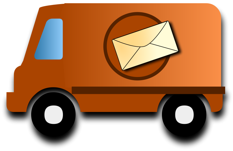 Delivery car clipart. Mail van clipground