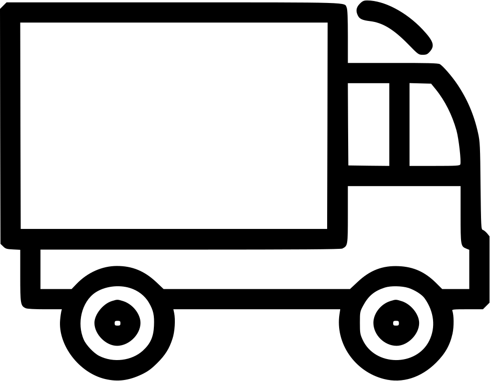 Delivery car clipart. Van truck shipping svg