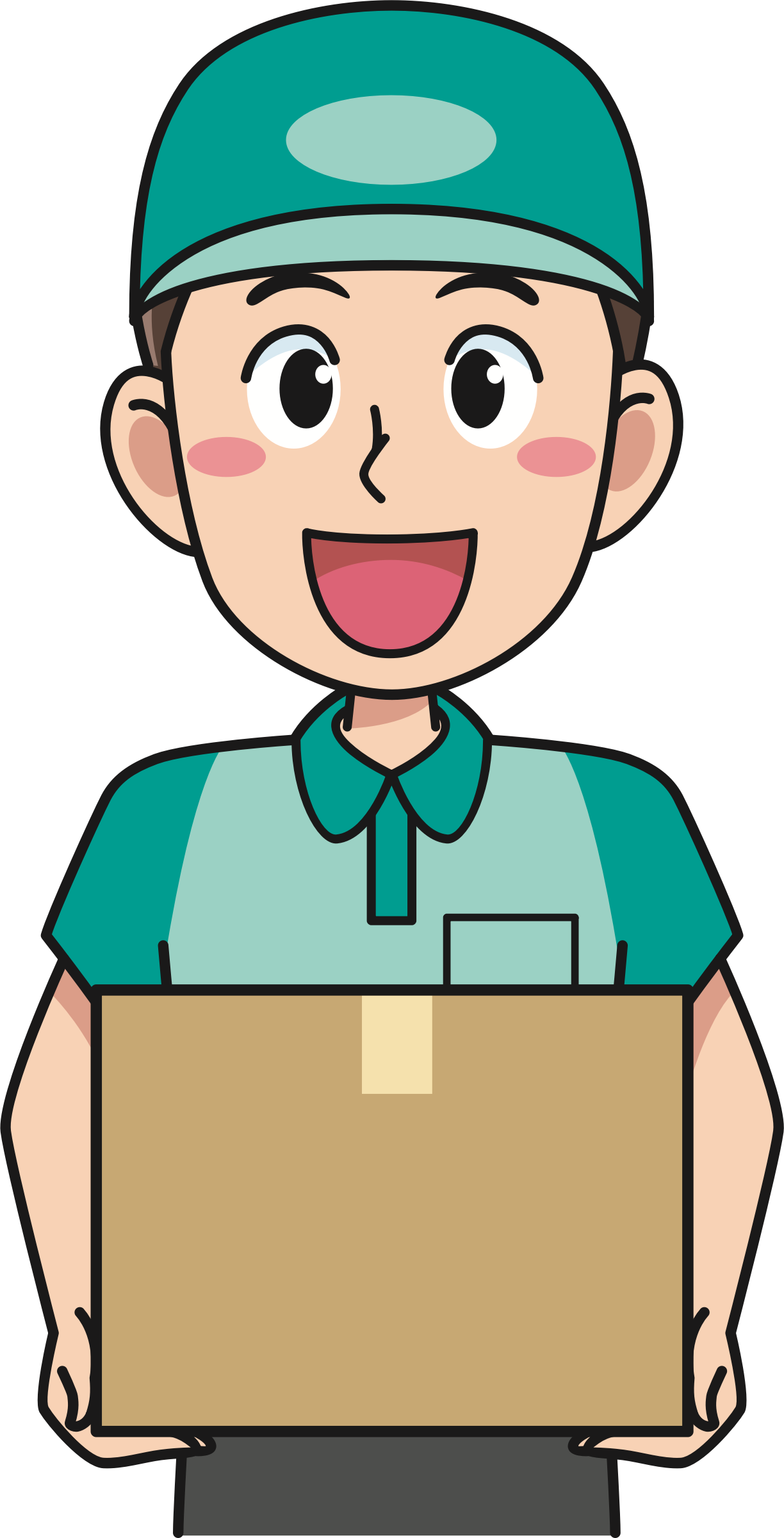 Delivery person clipart jpg freeuse Delivery man clipart clipart images gallery for free download ... jpg freeuse