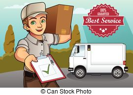 Delivery person clipart clip art free library Delivery man Illustrations and Clip Art. 19,632 Delivery man royalty ... clip art free library