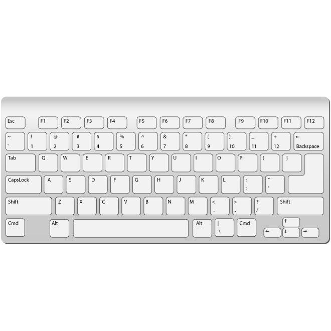 Dell computer keyboard clipart graphic freeuse Mac keyboard clipart - ClipartFox graphic freeuse