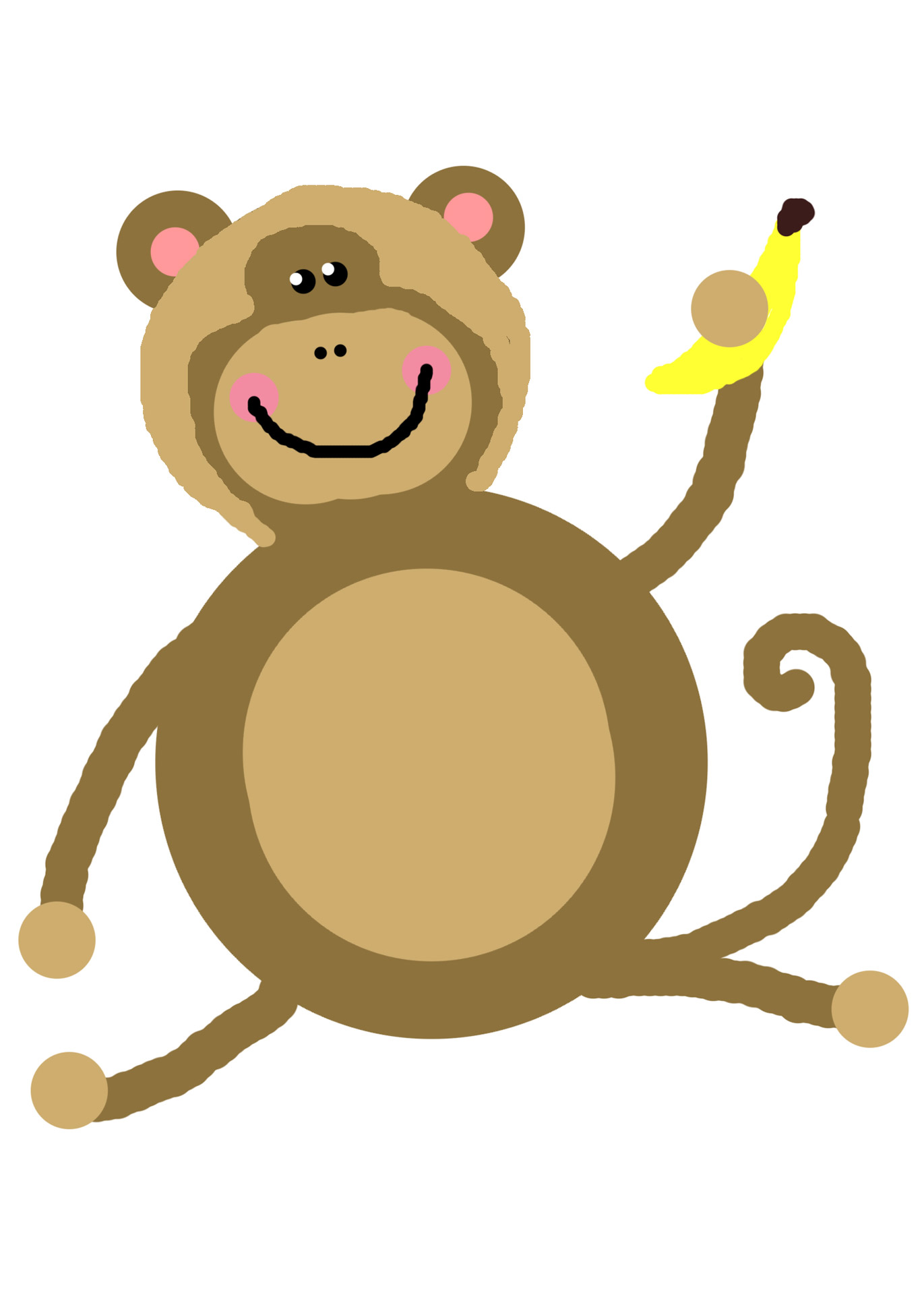Delousing clipart svg royalty free Monkey,mono,banana,clip,art - free photo from needpix.com svg royalty free