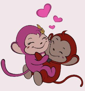 Delousing clipart graphic download Monkeys in Love - Valentine T Shirt | 7 Deadly Sins | Valentines ... graphic download