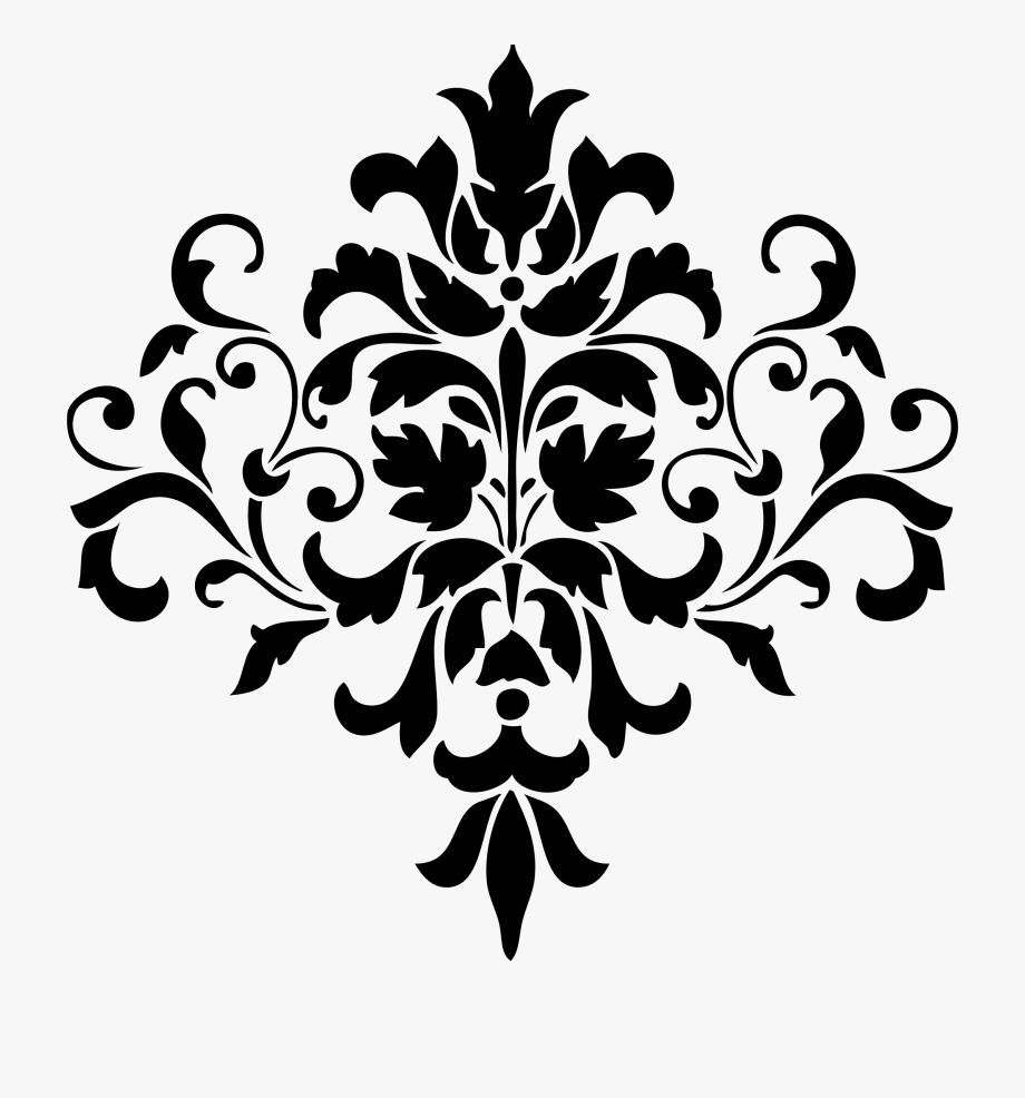 Transparent pattern png . Free damask clipart