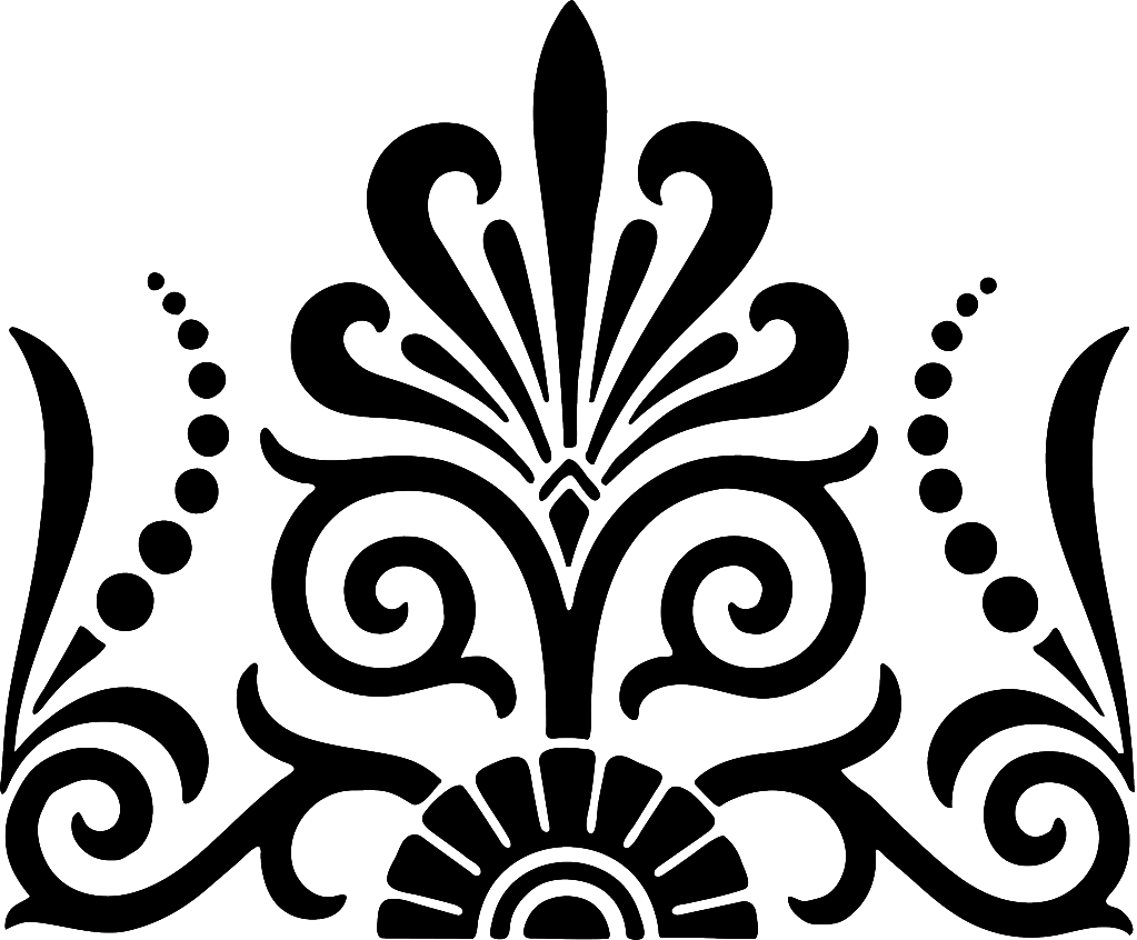Free damask clipart. Single clip art exotic