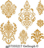 Demask clipart stock Damask Clip Art - Royalty Free - GoGraph stock