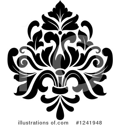 Demask clipart jpg black and white Damask Clipart 1241948 Illustration By Vector Tradition SM Whatever ... jpg black and white