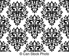 Illustrations and royalty . Free damask clipart
