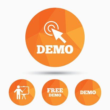 Demo icon clipart clipart free stock Demo With Cursor Presentation Billboard premium clipart ... clipart free stock
