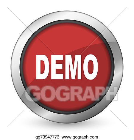 Demo icon clipart clip art black and white stock Stock Illustration - Demo red icon . Clipart Illustrations ... clip art black and white stock