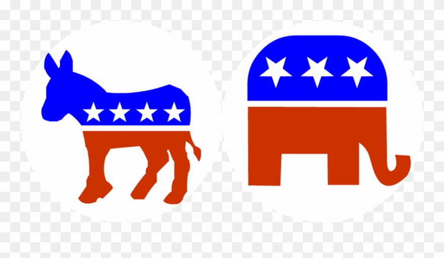 Democrat clipart image download Political Clipart Election - Republican And Democratic Party - Png ... image download