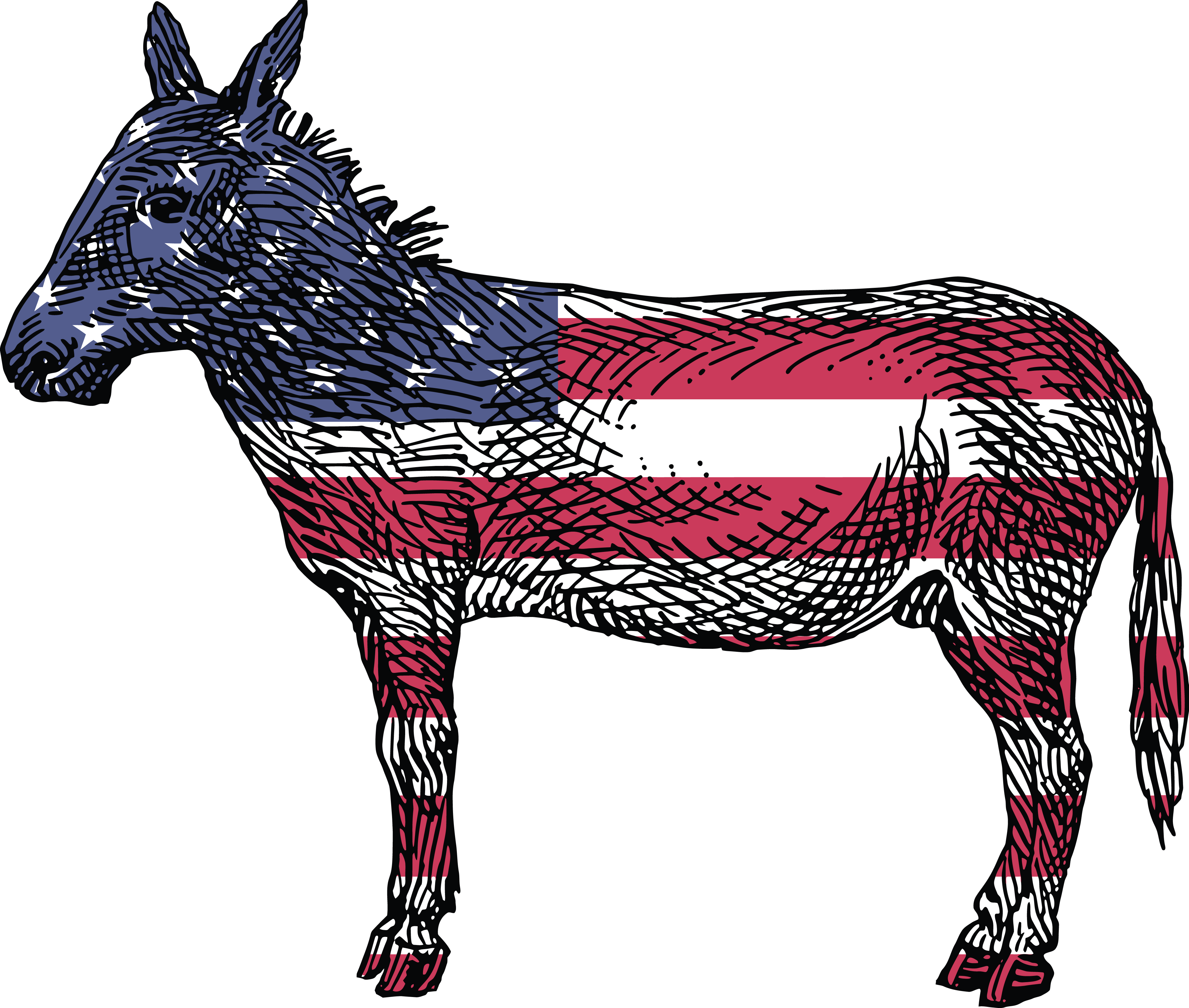 Democratic clipart free svg library download HD Free Clipart Of A Democratic Donkey - Reasons To Vote For ... svg library download