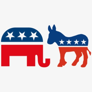 Democratic clipart free png library download Political Clipart Republican Democrat - Republican And Democrat ... png library download