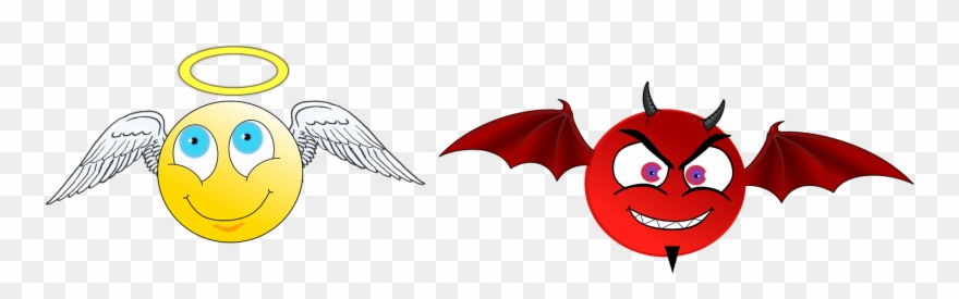 Demon angel clipart clipart free stock Angels And Demons - Cartoon Angel And Devil Clipart (#3185266 ... clipart free stock