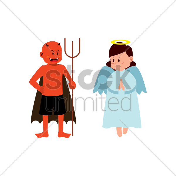 Demon angel clipart clip art transparent library HD Satan Clipart Angel And Demon - Angels And Evils Transparent PNG ... clip art transparent library