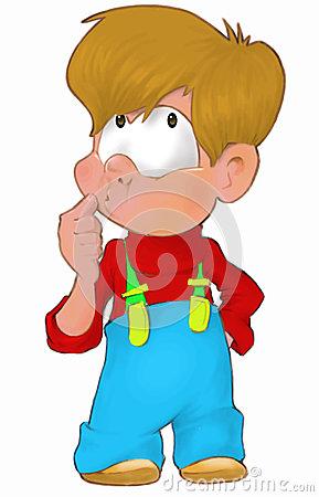 Denkendes kind clipart clip transparent Denkendes Und Malendes Kind Lizenzfreies Stockbild - Bild: 33304936 clip transparent