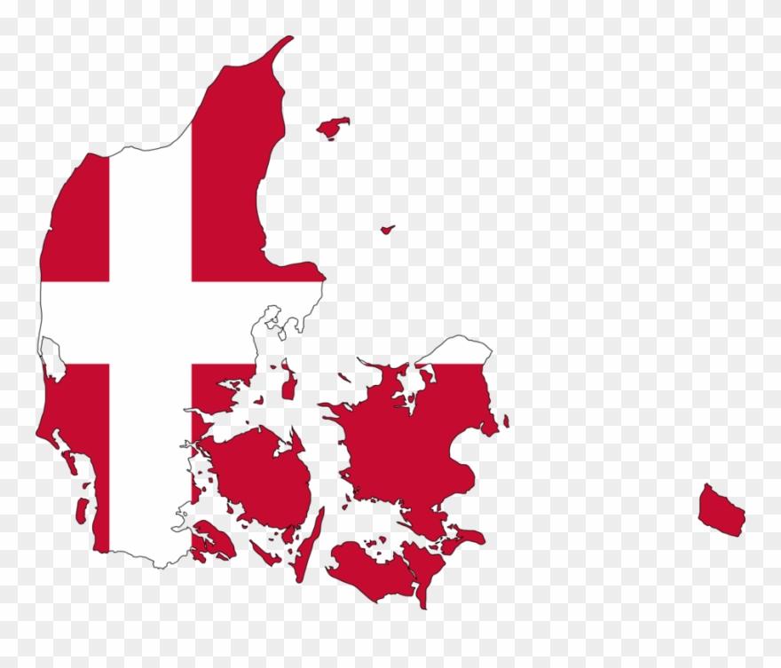 Denmark clipart graphic royalty free library Flag Of Denmark Vector Map National Flag - Denmark Map With Flag ... graphic royalty free library