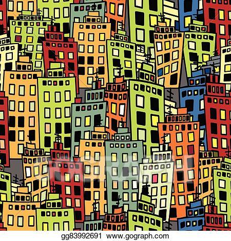 Dense clipart transparent stock Vector Clipart - Seamless texture of urban homes. dense buildings ... transparent stock